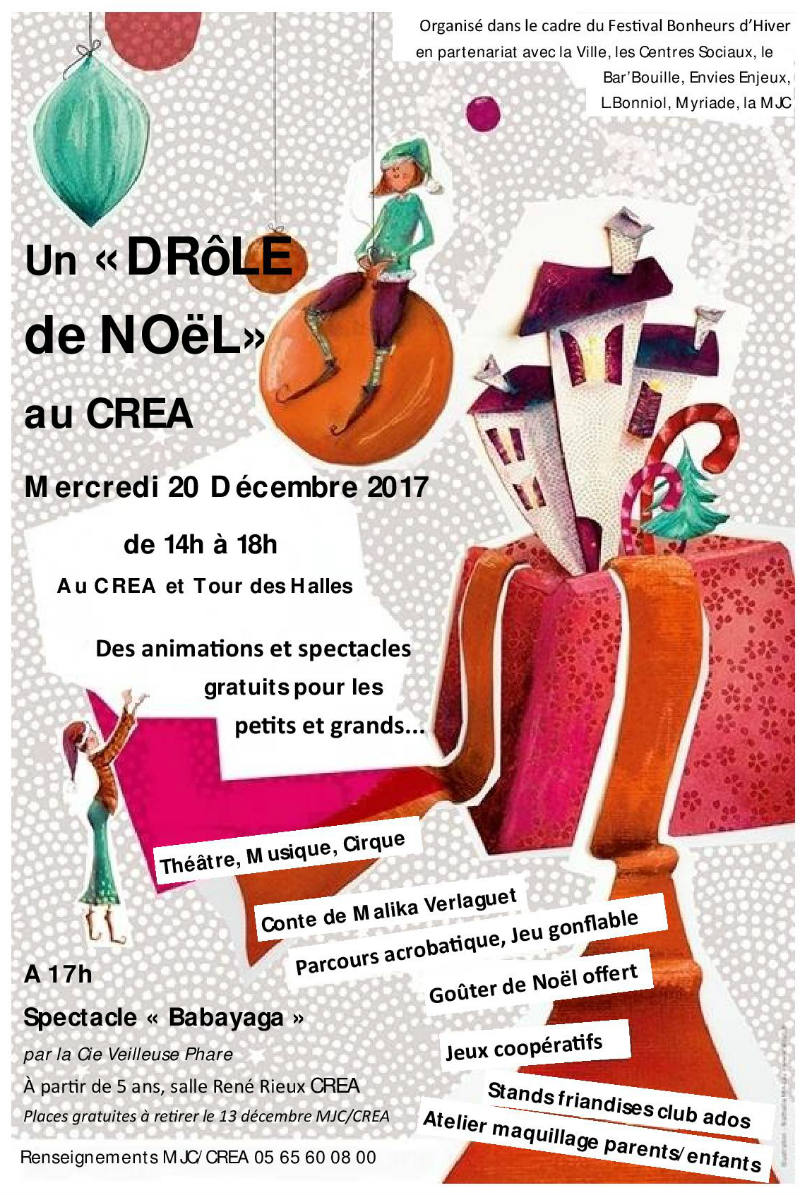 Un Drole De Noel Au Crea Mercredi 20 Decembre